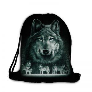 Plecak worek stado wilków