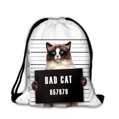 Worek plecak zły kot B-036