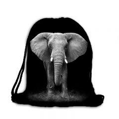 Worek plecak nadruk słoń B-016